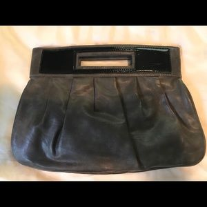 Oversized leather clutch